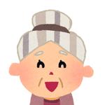 吹き出し/笑顔のおばあさん