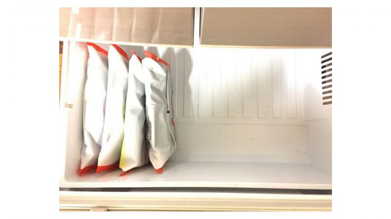 ワタミの宅食ダイレクト・4食を冷凍庫に収納