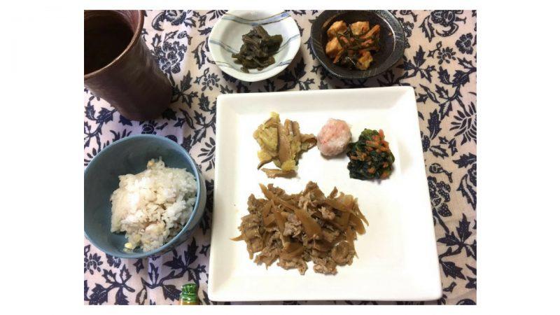 ワタミの宅食ダイレクト・牛肉とごぼうの煮物盛り付け例