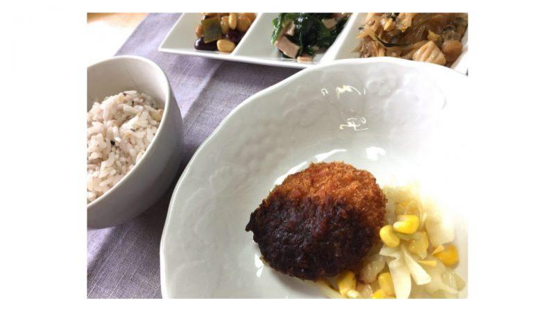 ワタミの宅食・味噌チキンカツ盛り付け例