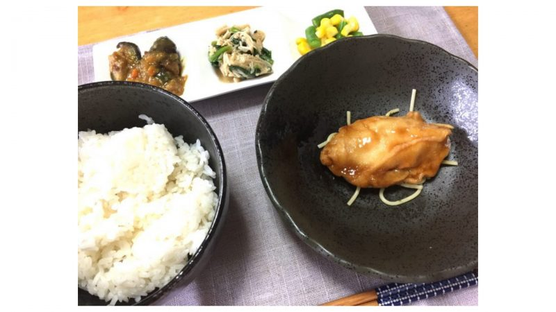 ワタミの宅食・白身魚の黒酢ソース盛り付け例