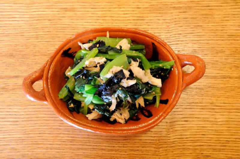 小松菜とささみの海苔和え