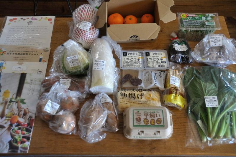 らでぃっしゅぼーやのおためしセットで届いたたくさんの野菜