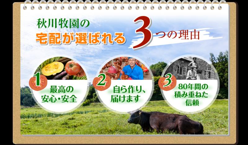 秋川牧園公式サイトトップ画像