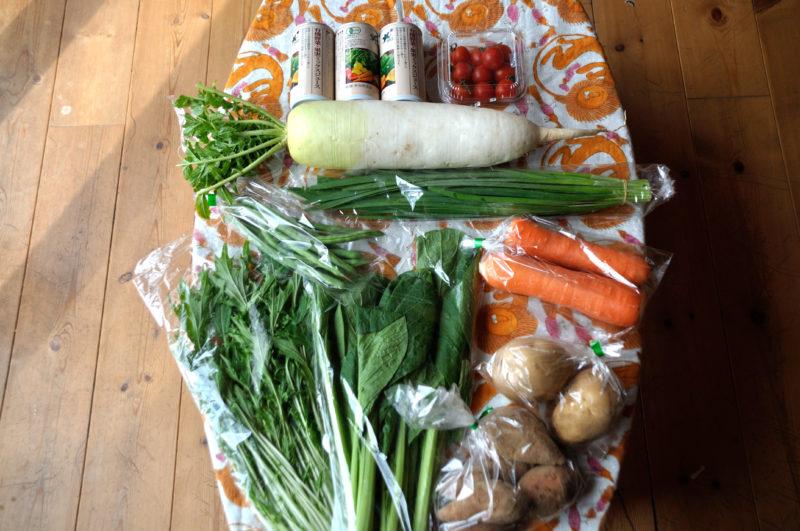 ビオ・マルシェのお試しセットで届いた野菜