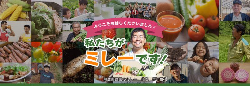 無農薬野菜のミレー公式サイトトップ画像