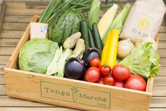 丹後王国 こだわり市場 ホームページより野菜セットの画像
