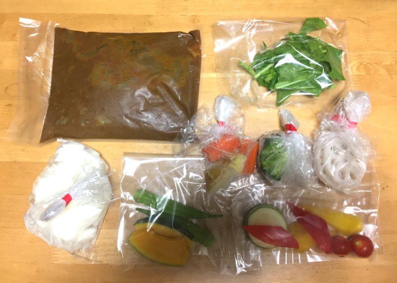 ミールセット・夏野菜を食べるカレー・内容
