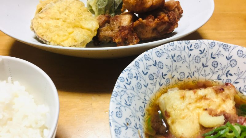 揚げ出し豆腐と野菜天ぷら・唐揚げ