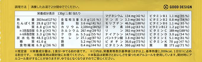 ベースパスタ・栄養価