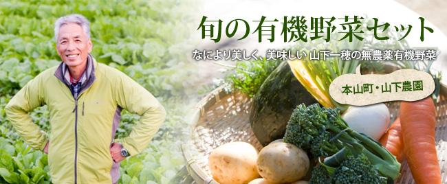 エコスタイルショッピングの有機野菜セットの画像 笑顔の生産者