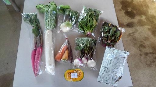 カルタファームの野菜セット カラフルで美しい野菜が並ぶ画像
