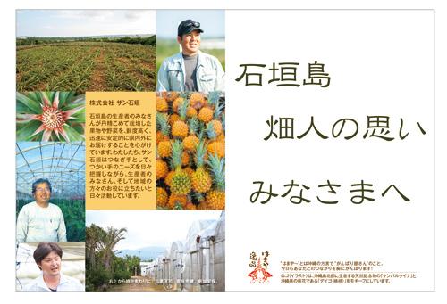 サン石垣ホームページより 石垣島の生産者や畑が写った画像
