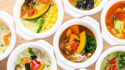 ウェルネスダイニングの「野菜を楽しむスープ」