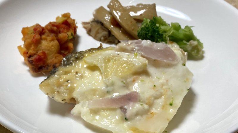 白身魚のチーズグラタン